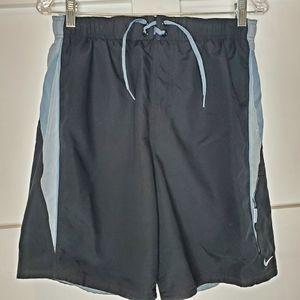 Mens Nike Swim Trunks Shorts Black Gray Medium
